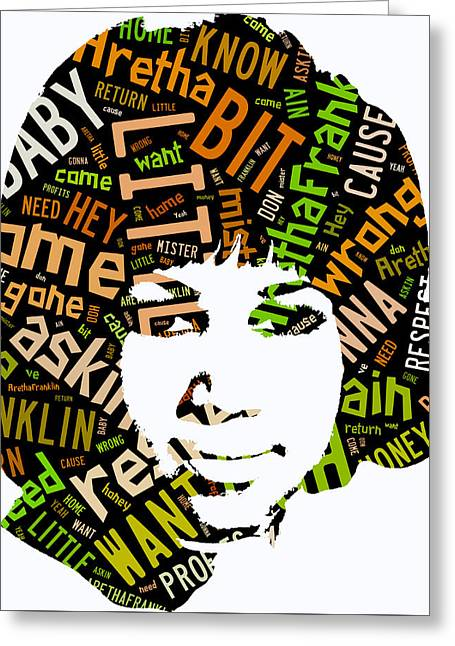 Aretha Franklin Respect Greeting Card