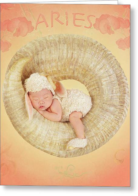 Aries Greeting Card by Anne Geddes