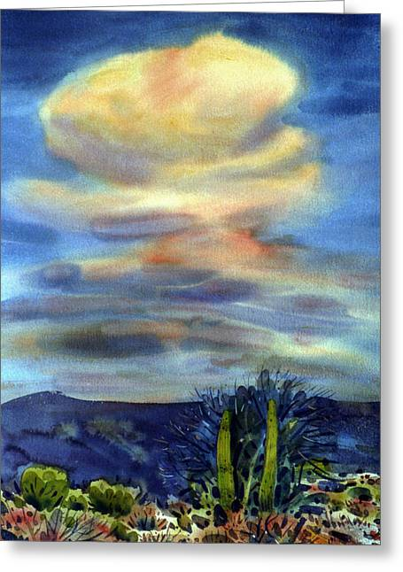 Arizona Thunderhead Greeting Card by Donald Maier