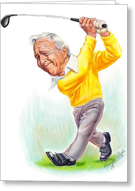 Arnie Greeting Card by Harry West