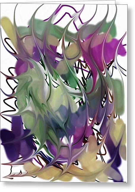 Greeting Card featuring the digital art Art Abstract by Sheila Mcdonald