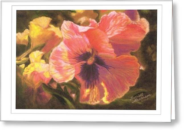 Art Card - Caroline's Pansies Greeting Card