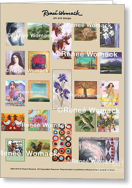 Greeting Card featuring the painting Art Collection by Renee Womack