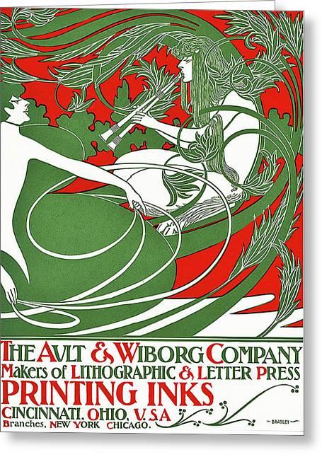 Art Nouveau Poster Depicting Pan, 1895 Greeting Card