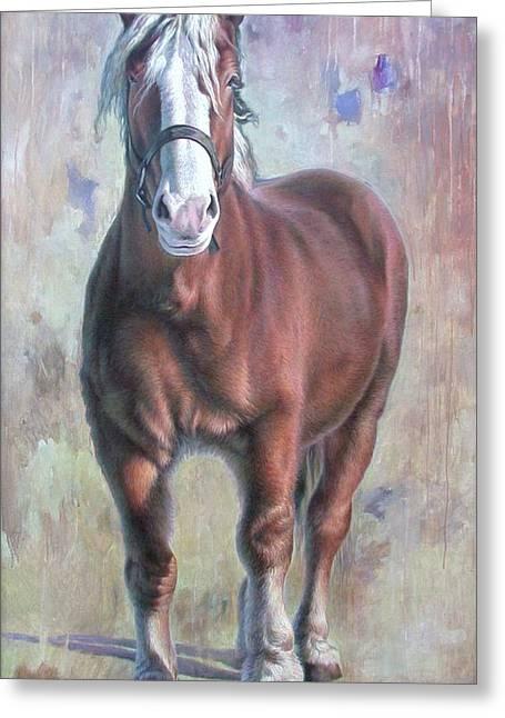 Arthur The Belgian Horse Greeting Card