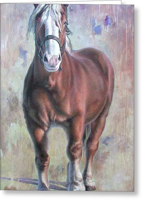 Arthur The Belgian Horse Greeting Card