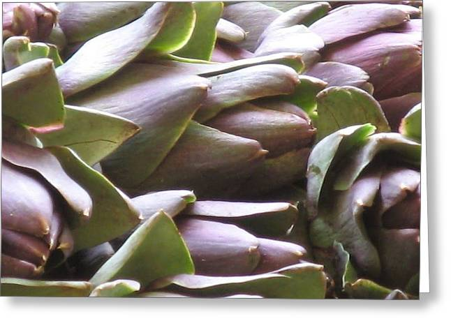 Artichokes Greeting Card by Erla Zwingle