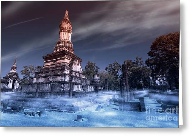 Artistic Of Chedi Greeting Card