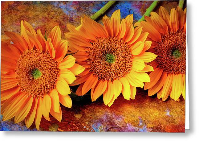 Artistic Sunflowers Greeting Card