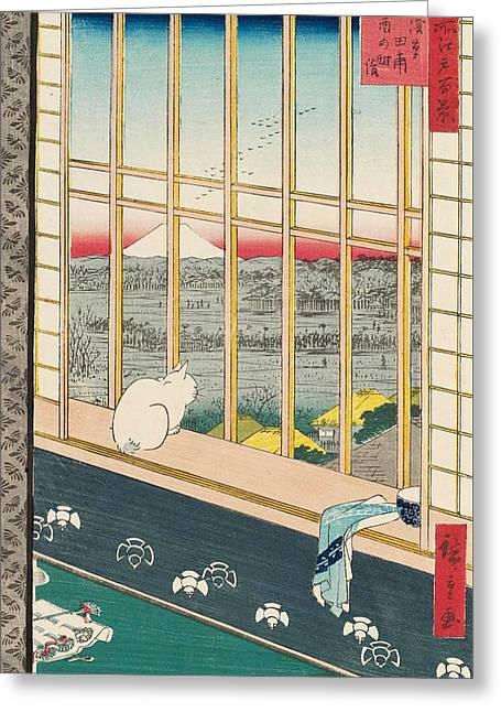 Asakusa Rice Fields And Torinomachi Festival Greeting Card