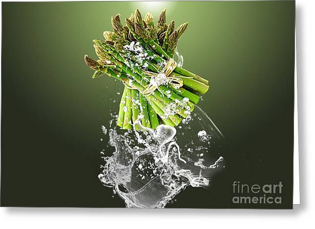Asparagus Splash Greeting Card