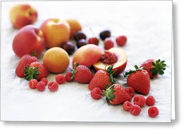 Assortment Of Summer Fruit Greeting Card by David Munns