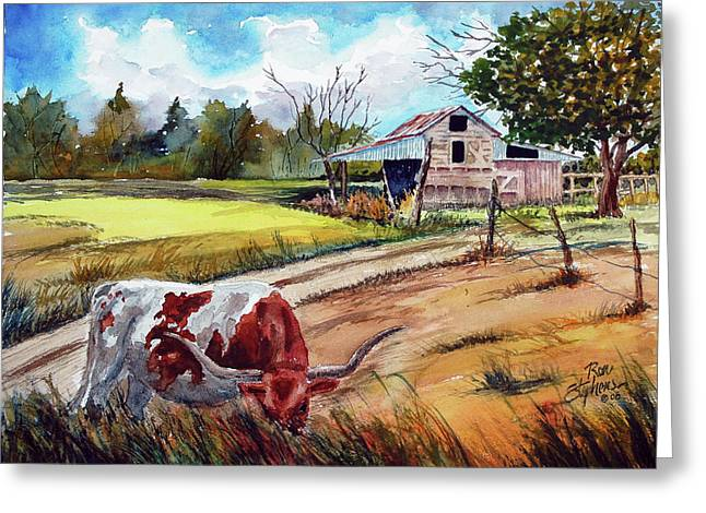 At Home On The Range Greeting Card