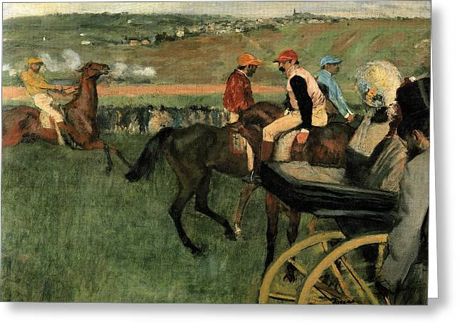 At The Races Greeting Card by Edgar Degas