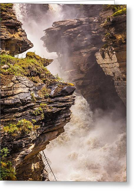 Greeting Card featuring the photograph Athabasca Falls by Mark Mille