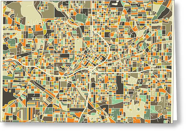 Atlanta Map Greeting Card by Jazzberry Blue