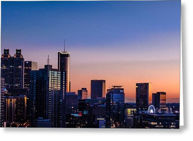 Atlanta Sunset Greeting Card