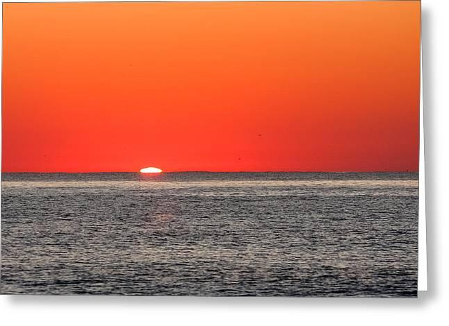 Atlantic Sunrise Greeting Card by Allan Levin
