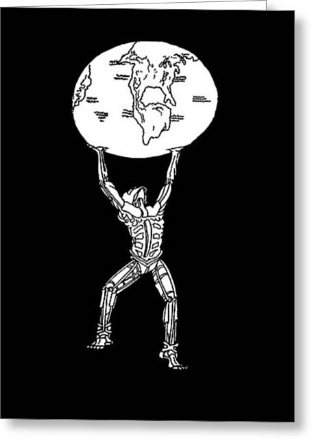 Atlas Greeting Card by Steve  Hester
