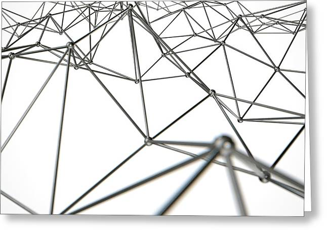 Atom Array Abstract Greeting Card by Allan Swart