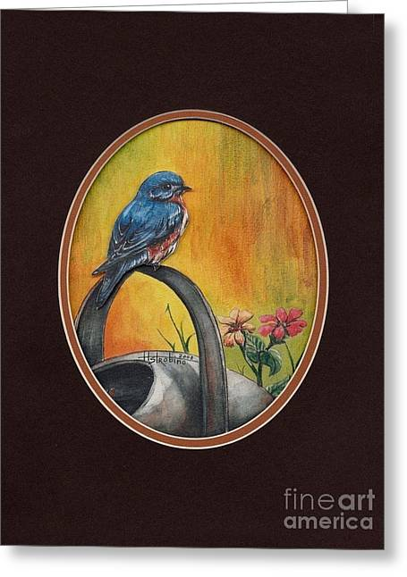 Atop T-shirt Greeting Card by Herb Strobino