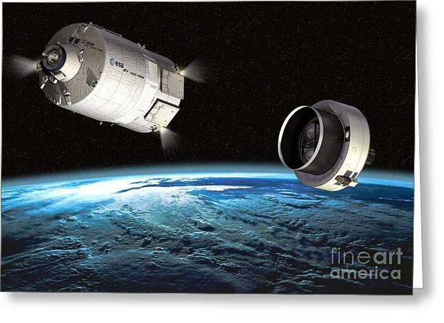 Atv Orbital Separation, Artwork Greeting Card by David Ducros