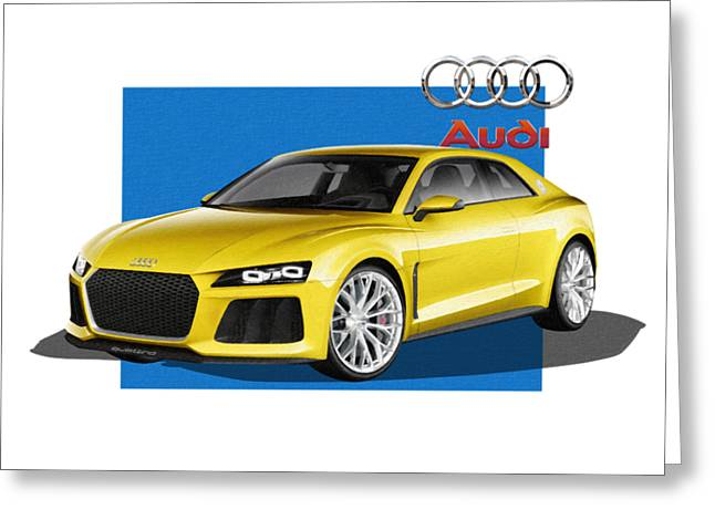 Audi Sport Quattro Concept With 3 D Badge  Greeting Card
