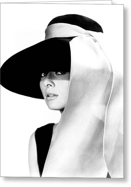 Greeting Card featuring the photograph Audrey Hepburn As Holly Golightly by R Muirhead Art