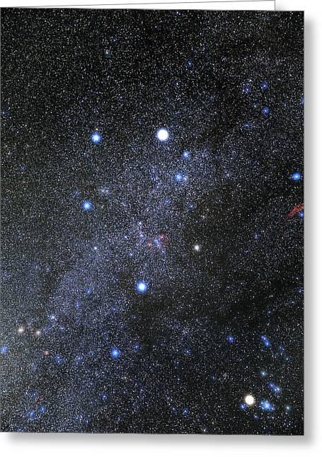 Auriga Constellation Greeting Card by Eckhard Slawik