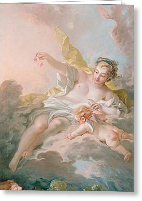 Aurora And Cephalus Greeting Card by Francois Boucher