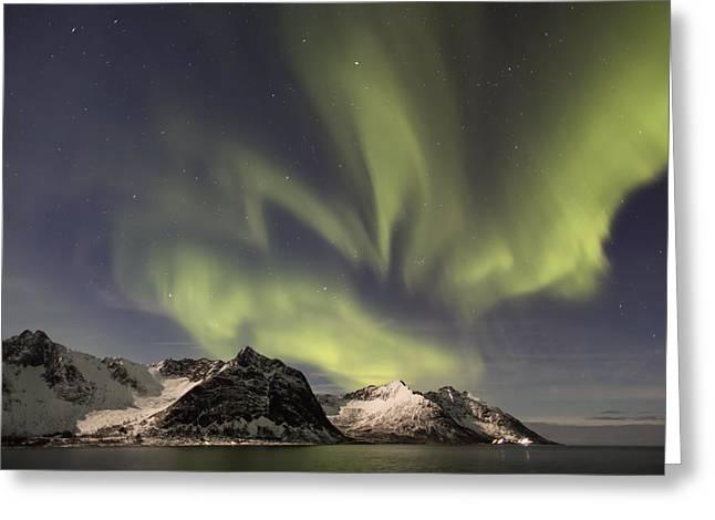 Aurora Borealis Greeting Card by Thomas Berger
