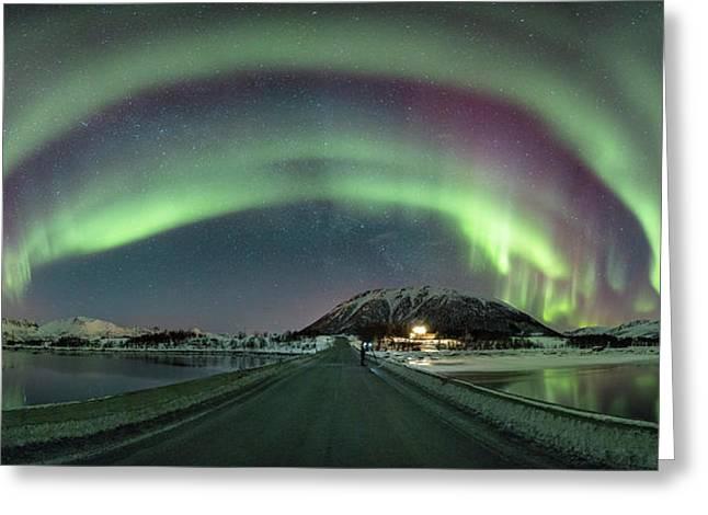 Aurora Panoramic Greeting Card