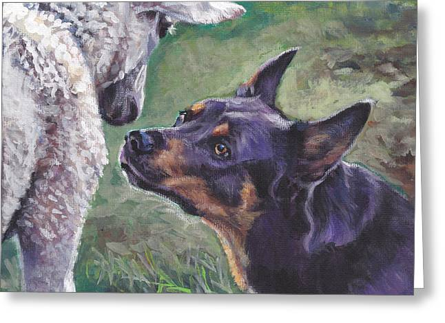 Australian Kelpie Greeting Card by Lee Ann Shepard