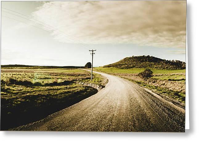 Australian Rural Road Greeting Card
