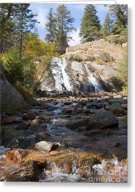 Autumn At Helen Hunt Falls Colorado Greeting Card