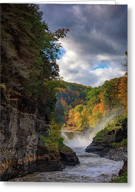 Autumn At The Lower Falls II Greeting Card