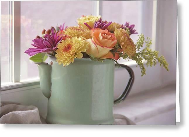 Autumn Bouquet -2 Greeting Card by Kim Hojnacki