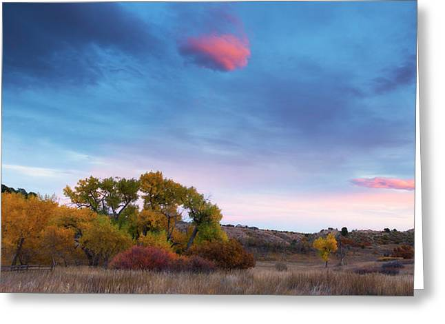 Greeting Card featuring the photograph Autumn Days by Tim Reaves