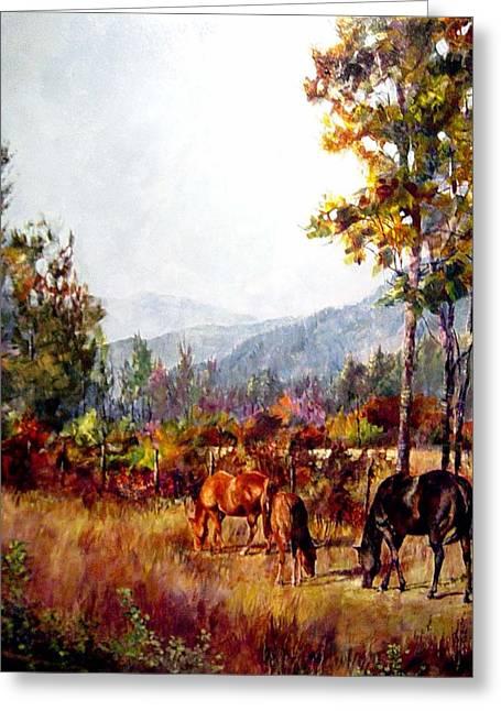 Autumn Grazing Greeting Card