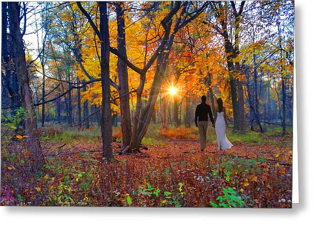 Autumn In The Meadow Greeting Card