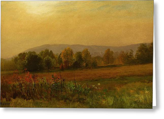 Autumn Landscape Greeting Card by Albert Bierstadt