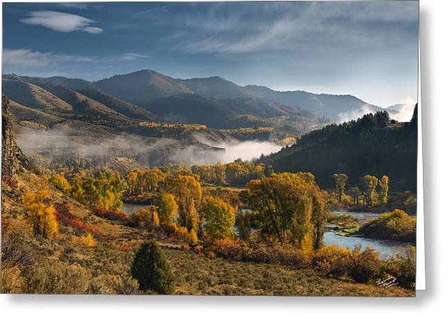 Autumn Light Along The Snake River Greeting Card by Leland D Howard