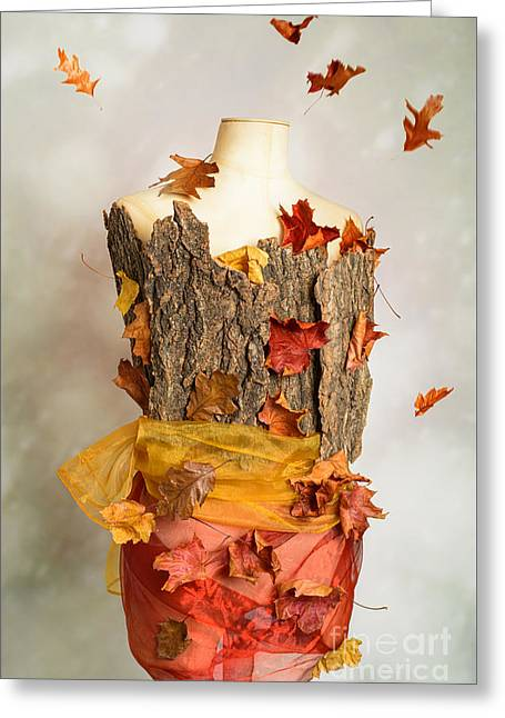 Autumn Mannequin Greeting Card