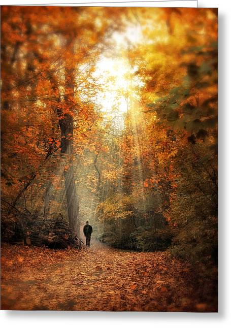 Autumn Meditation Greeting Card by Jessica Jenney