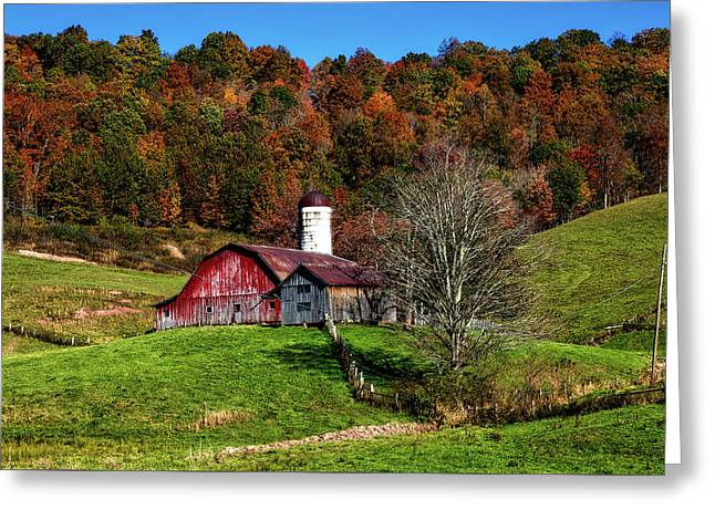 Autumn On The Farm Greeting Card by Mountain Dreams