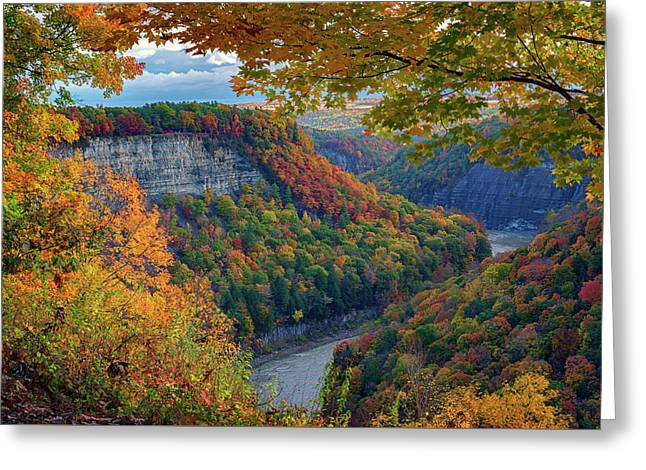Autumn On The Genesee II Greeting Card