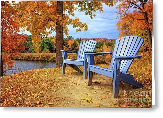 Autumn Splendor Greeting Card by Edward Fielding