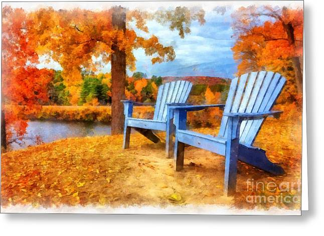 Autumn Splendor Watercolor Greeting Card