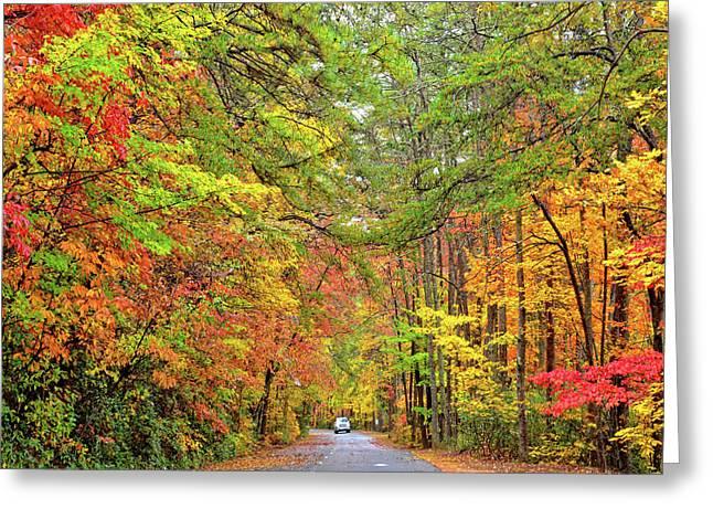 Autumn Travel Greeting Card