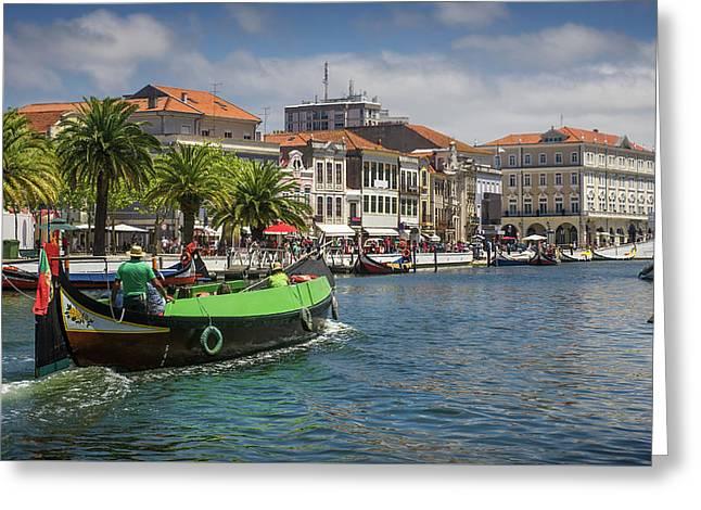 Aveiro Moliceiro Boat Greeting Card